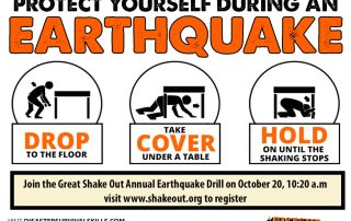 great shake out drill drop cover and hold on
