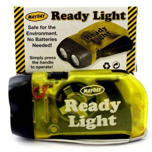 Flashlight hand crank