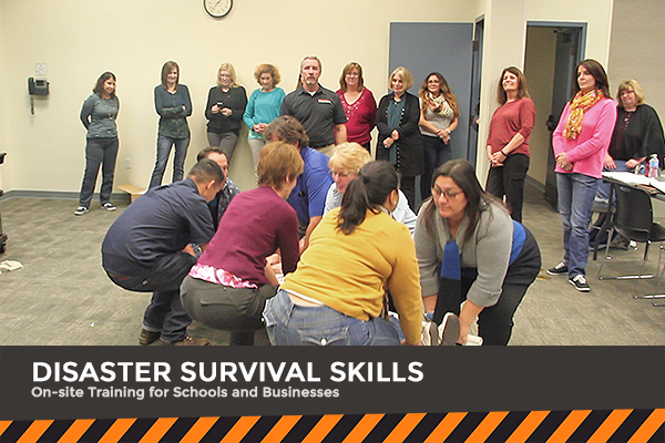 Disaster Survival Skills Workshops for Businesses and Schools