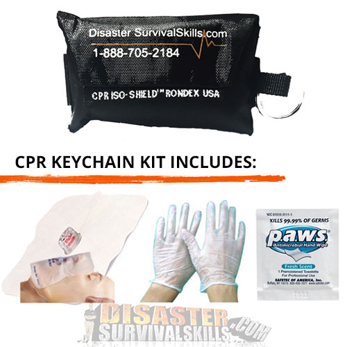 CPR Face Shield Keychain kit