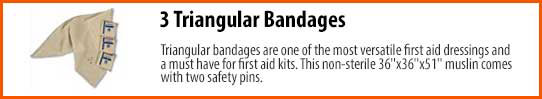Triangular bandages