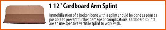 1 12″ Cardboard Arm Splint