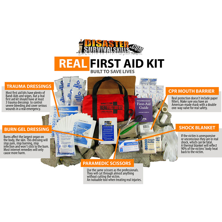 Real First Aid Kit Disaster Survival ajwgdr