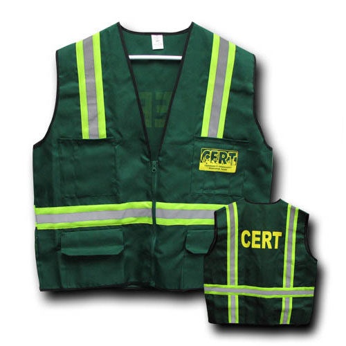 Green Vest CERT Logo for CERT Team Gear