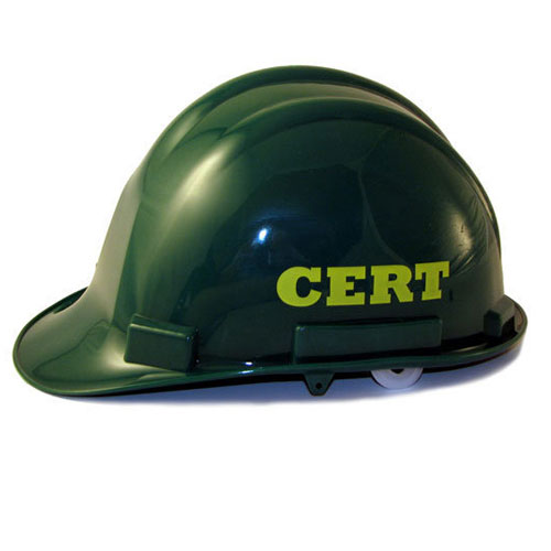 cert hard hat for cert team gear