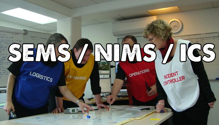 SEMS NIMS ICS