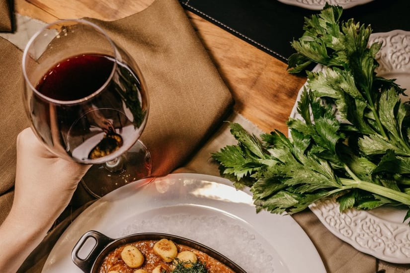 Pinot Noir wine with food