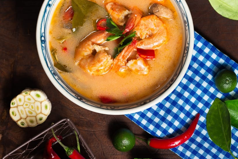 thai curry with shrimps
