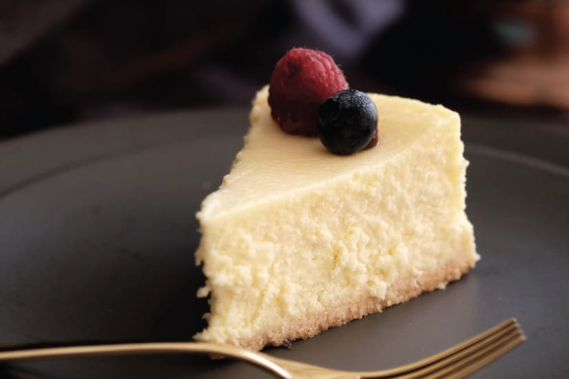 cheesecake served on a plate