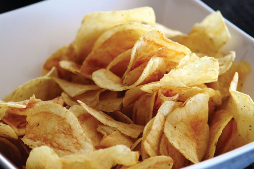 chips served on a bowl