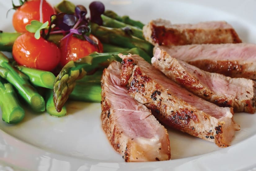 veal served on a plate