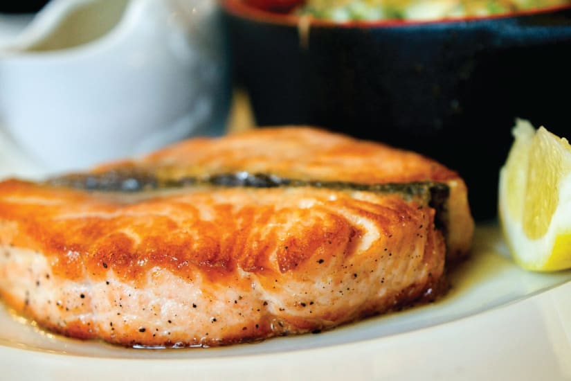 grilled salmon served on a plate