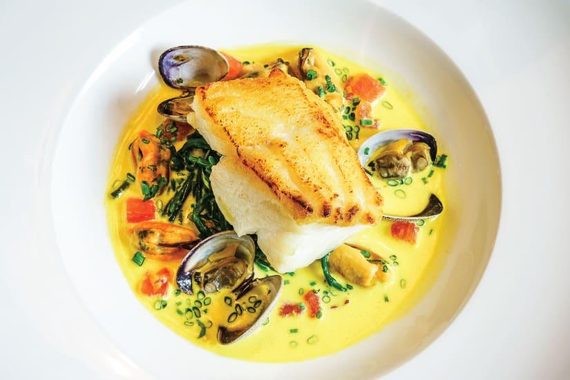 fish with creamy sauce