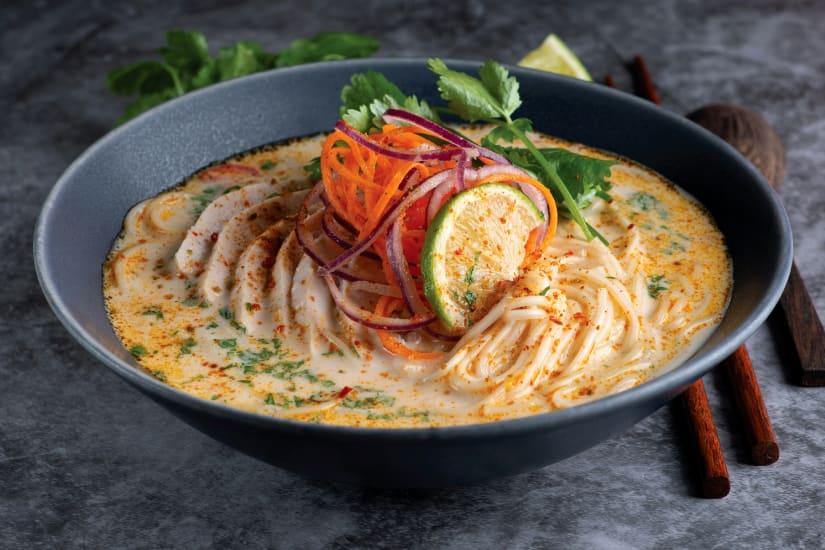 thainudlar med kyckling och lime