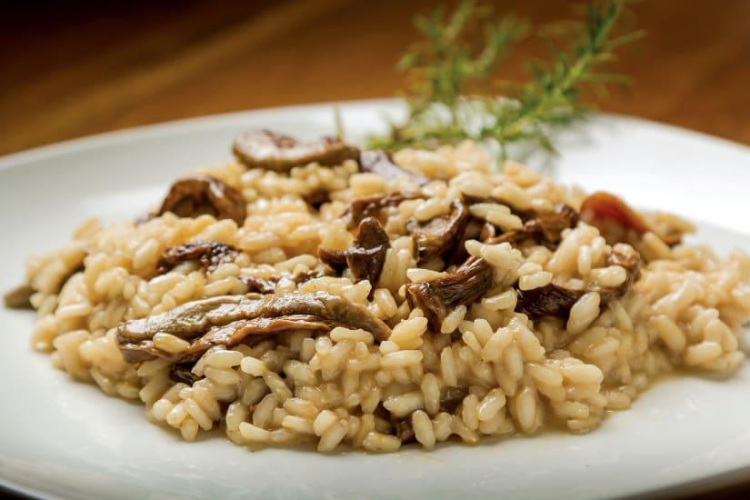 vegetarisk risotto med svamp