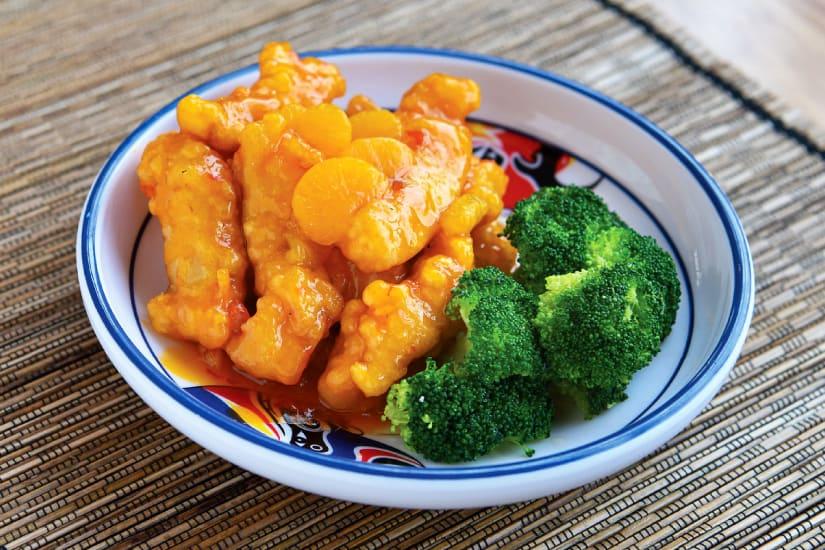 sötsur kyckling med grönsaker