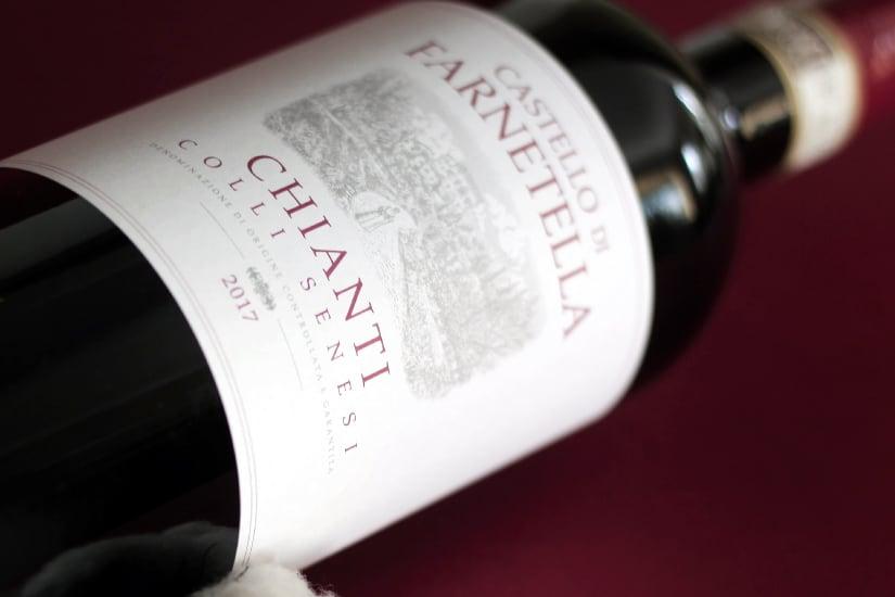 A bottle of Chianti wine
