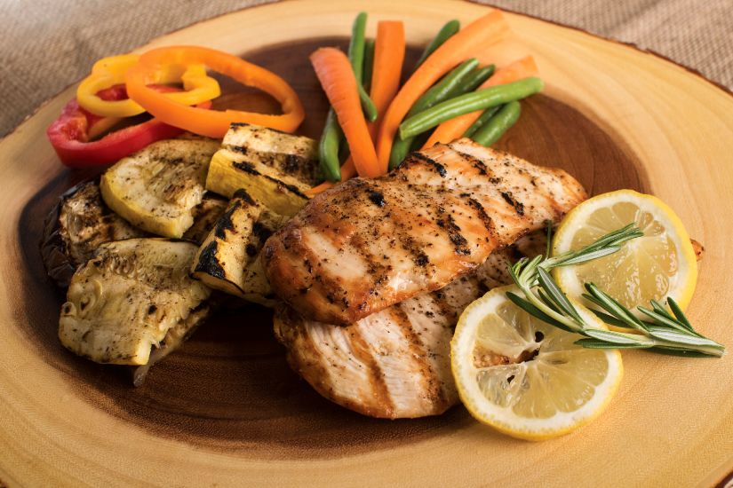 chicken with herbs lemon and vegetables