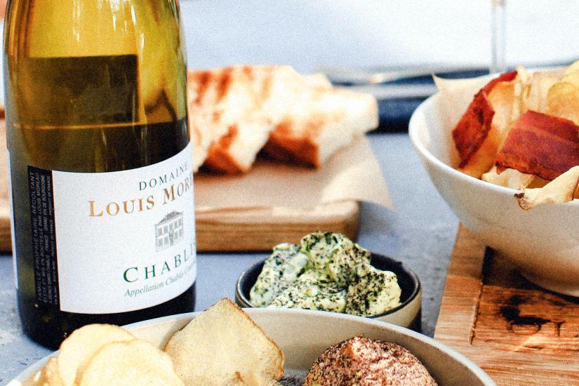 Chablis wine bottle