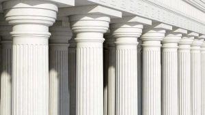 Courthouse white pillars