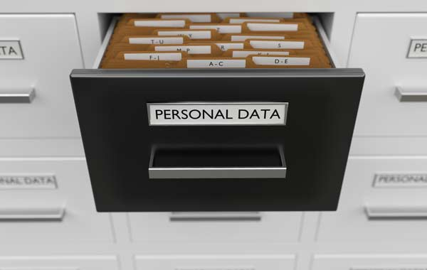 cabinet with a personal data files