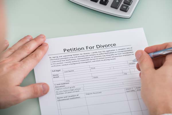 Petition for divorce form
