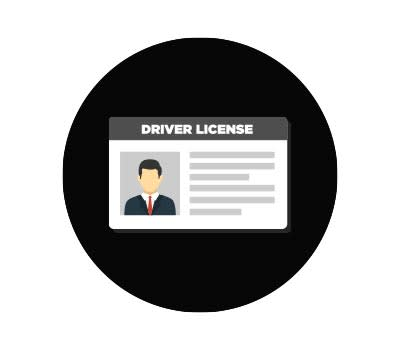 Illustration of a driver's licence