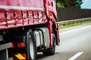 Red truck on highway 55 - CDL Lawyers in Illinois