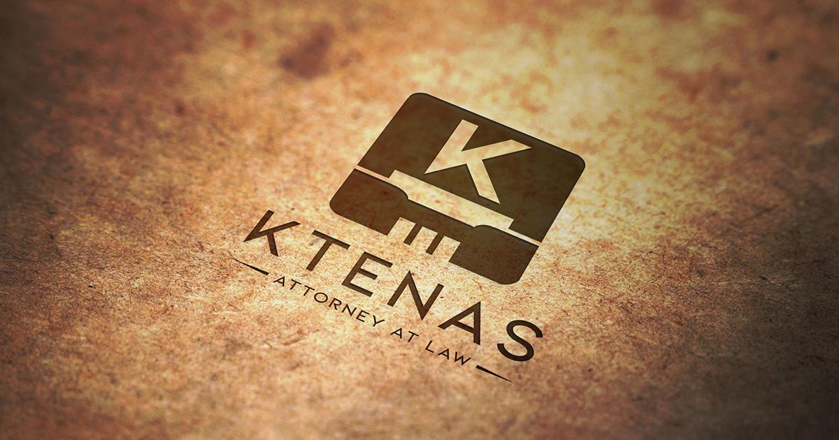 Ktenas Law stamp on old paper