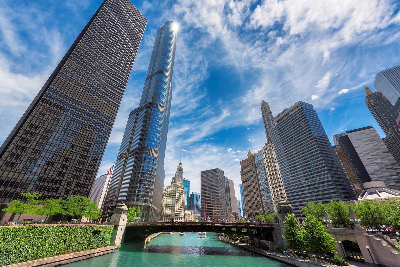 Chicago buildings with blue sky DUI Attorney