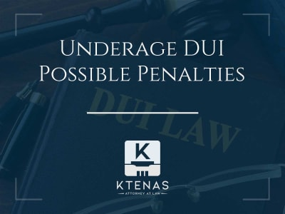Underage DUI possible penalties