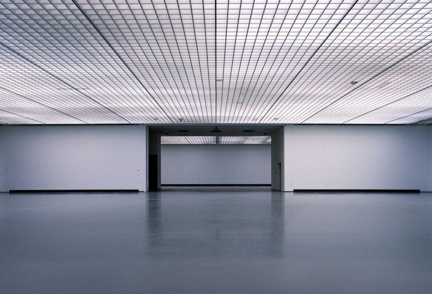A museum with empty walls