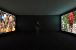 Mark Boulos, All that is solid melts into air (installation view)