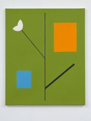 Jan Roeland, Compositie met bloem, tak en 2 rechthoeken