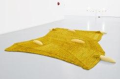Jennifer Tee, Crystalline Floorpieces / Yellow Ochre