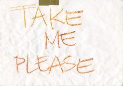 Julie Cockburn, Take me Please (chalk)