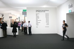 Lara Almarcegui, Construction Materials of Frieze Art Fair