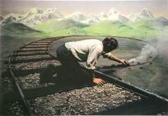 Teun Hocks, Untitled (model train)