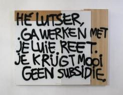Jeroen Jongeleen, Zelportret als Luster (No Style, [public comments on art])