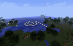 Jan Robert Leegte, Remake of Robert Smithson's Spiral Jetty in Minecraft