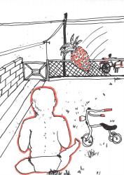 Dick Verdult, Dibujos Pasajeros (Ananas over het hek)