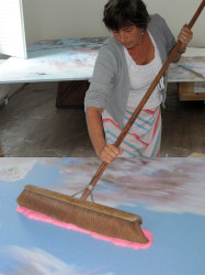 Marijke van Warmerdam, MvW at work in studio