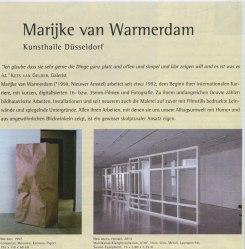 Marijke van Warmerdam, Kunsthalle Düsseldorf, Germany