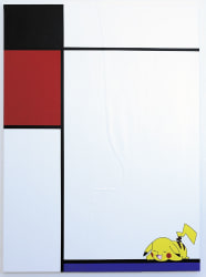 Michael Pybus, Composition No I with Red, Black, Pikachu and Blue
