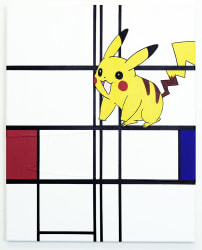Michael Pybus, Composition with White, Red, Blue and Pikachu