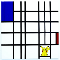 Michael Pybus, Composition with Blue, Red and Pikachu
