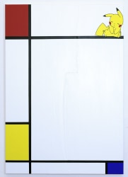 Michael Pybus, Composition No III, with Red, Pikachu and Blue