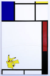 Michael Pybus, Composition with Blue, Red, Pikachu and Black
