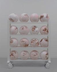 Daniel Arsham, Pink Selenite Eroded Basketball Rack