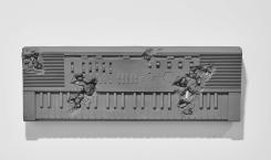 Daniel Arsham, Bronze and Pyrite Keyboard
